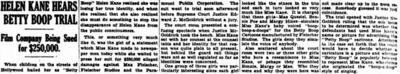 Helen Kane Hears Betty Boop Trial 1934