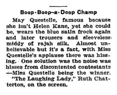 Boop-Boop-a-Doop Champ Mae Questel 1930