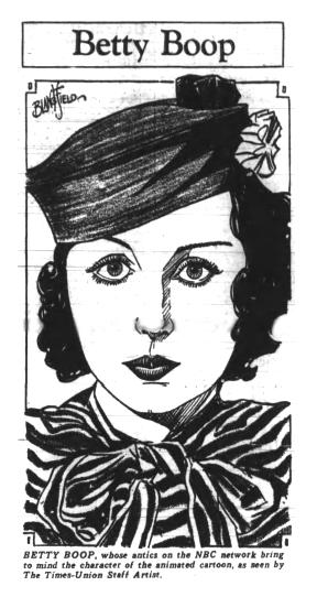 Bonnie Poe voice of Betty Boop NBC Radio 1933