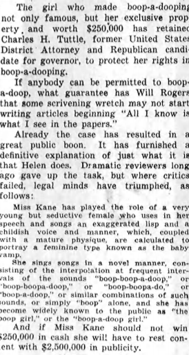 Rights On Booping 1932