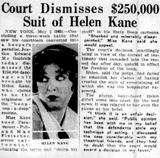 Court Dismisses $250,000 Suit of Helen Kane