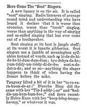 Scat Singing 1932