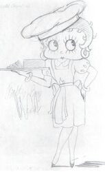 Betty Boop Misguided Tours Sketch Idea 2