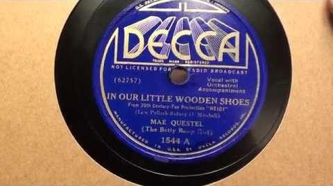 In Our LIttle Wooden Shoes Mae Questel