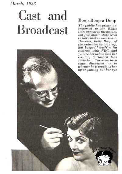 Betty Boop Wikia March 1933 Max Fleischer and Mae Questel