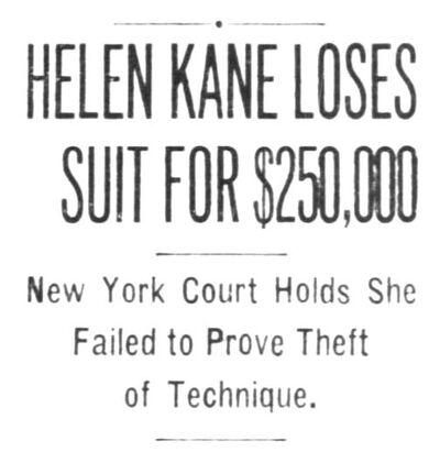 Helen Kane Loses Betty Boop Lawsuit 1934