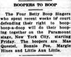Boopers To Boop (1934)