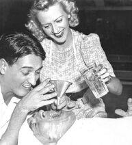 Margie Hines (Betty Boop and Olive Oyl) Jack Mercer (Popeye) and Pinto Golvig (Goofy)