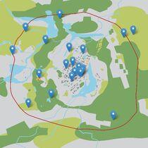 Pretty Lake map