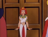 Larke in Cleopatra costume