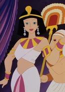 Bianca in Cleopatra costume