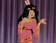 Bianca in Pocahontas costume