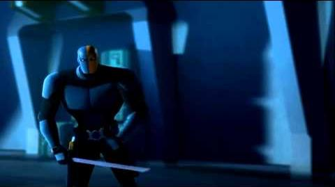 Deathstroke loses his eye -Beware the Batman