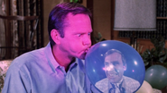 Darrin and Uncle Arthur (in a blue balloon)