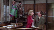 Endora and Serena watching Dusty and Darrin