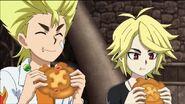 Ranjiro and Fubuki eating bey-bread