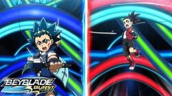BEYBLADE BURST TURBO Episode 51 Bonding! Aiger vs Valt!