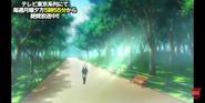 Shu jogging in park