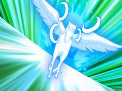"""Pegasus bei der Durchführung des Special Move """"Storm Bringer"""""""