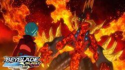 BEYBLADE BURST RISE Episode 10 Part 1 Flash of Light! Shining Crux!