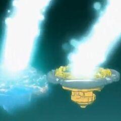 LDrago Destructor umkreist Flame Sagittario...
