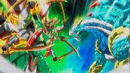 Beyblade Burst Gachi Bushin Ashura Hurricane Keep Ten vs Ace Dragon Sting Charge Zan