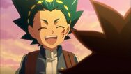Valt smiles at Aiger