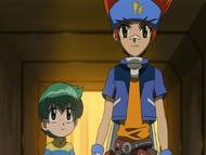 Ginga playing the hero to save Kenta