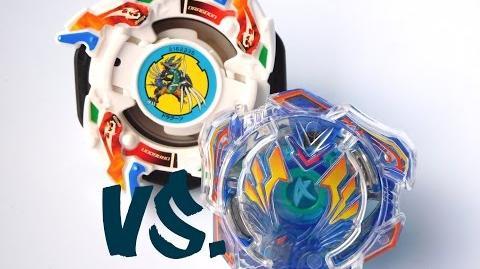 ᴴᴰ Beyblade Burst VS Plastics Valkyrie Wing Accel vs. Dragoon V2! (ベイブレードバースト)