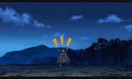 Tetsuya running away