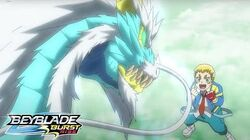 BEYBLADE BURST RISE Episode 13 Part 2 Rise Up! Dante vs Aiger!