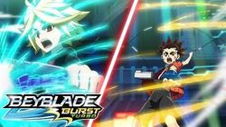 BEYBLADE BURST TURBO Episode 21 - Cooperation! Tag-Team Battle!