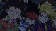 Ken, Daigo, and Wakiya cheering