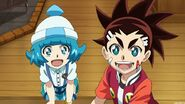 Naru and Aiger playful faces