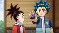 Valt's showing his beyblade