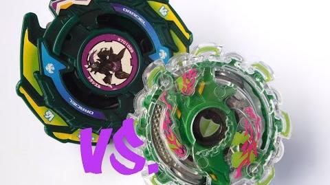 ᴴᴰ Beyblade Burst VS Plastics Kerbeus Central Defence vs Draciel V2! (ベイブレードバースト)
