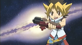 Sora holding his Launcher