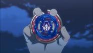 Gingka holding Cosmic Pegasus