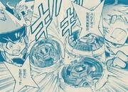 Ginga and Kyoya vs Tsubasa