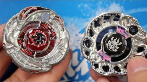 BATTLE Archer Gargole SA165WSF VS Dark Knight Dragooon LW160BSF - Beyblade ZeroG