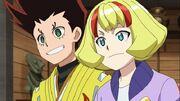Arman and Ichika smiling