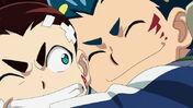 Valt and Aiga cuddling moment