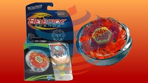 Beyblade Legends BB-59 Burn Fireblaze 135MS Review Unboxing Giveaway Expires July 27th 2014