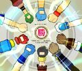 Beyblade All-Star Protagonists fist bump