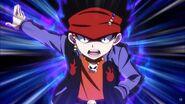 Daigo's charging aura
