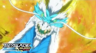 BEYBLADE BURST RISE Episode 2 Part 2 From the Flames! Glyph Dragon!