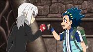 Valt and Shu reunion fist-bump