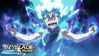 BEYBLADE BURST TURBO Episode 14 - Raging Dragon! Brutal Lúinor!