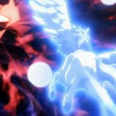 Cosmic Pegasus kämpft gegen Phantom Orion.