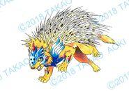 Bey Manga, Pirece Hedgehog settei